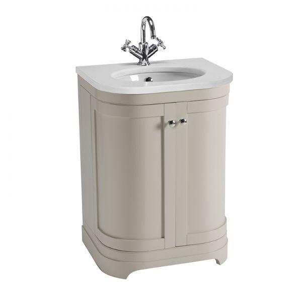 Marlborough 600mm Freestanding Curved Unit, Worktop & Basin - Laura Ashley Bathroom Collection