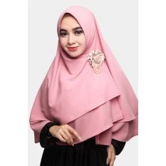 Cotton Bee Khimar Arzetta - Dusty Pink