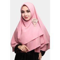Cotton Bee Khimar Arzetta - Dusty Pink