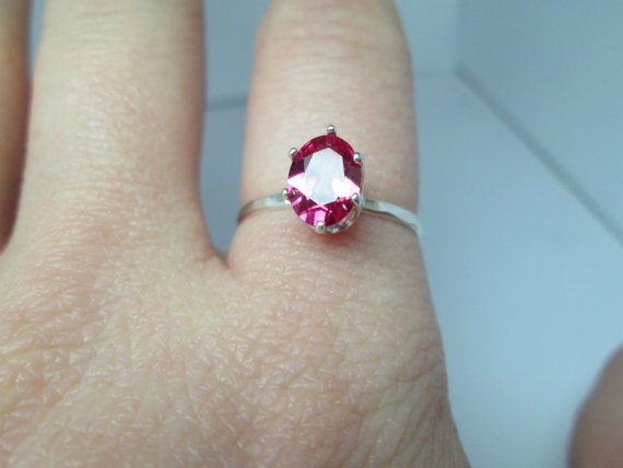 Oval Ruby Silver Ring Labgrown Ruby Handforged by palilicium, $60.00  #jewellery #engagement #bridal #engagement ring #bride #jewelry #ring #etsy #rings #silver #handforged sterling silver ring #handforged sterling silver rings #handforged silver ring #gemstone #gemstones #sterling silver #fashion #jewels #gems #metalwork #hand-forged #handforged  #palilicium #stacking rings #knuckle rings #ruby ring #ruby #rubies