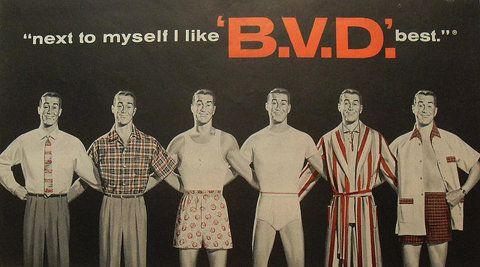 1950s Men's Underwear BVD Illustration Vintage Advertisement Boxers Briefs Pyjamas | Flickr: Intercambio de fotos