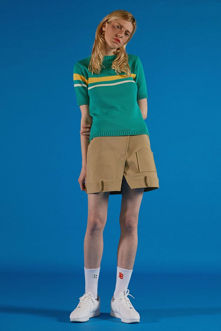 Green stripe knitwear  ADER IMAGE #ader#fashion#lookbook#editorial#image#photo#photography#styling#color#knitwear
