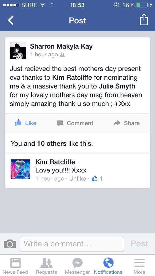 These are genuine reviews of clients, who had private sessions with me. Life counseling plus connecting to spirit. www.juliesmyth.co.uk
