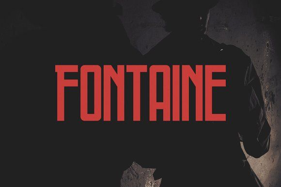 Fontaine Typeface by Tugcu Design Co. on @creativemarket