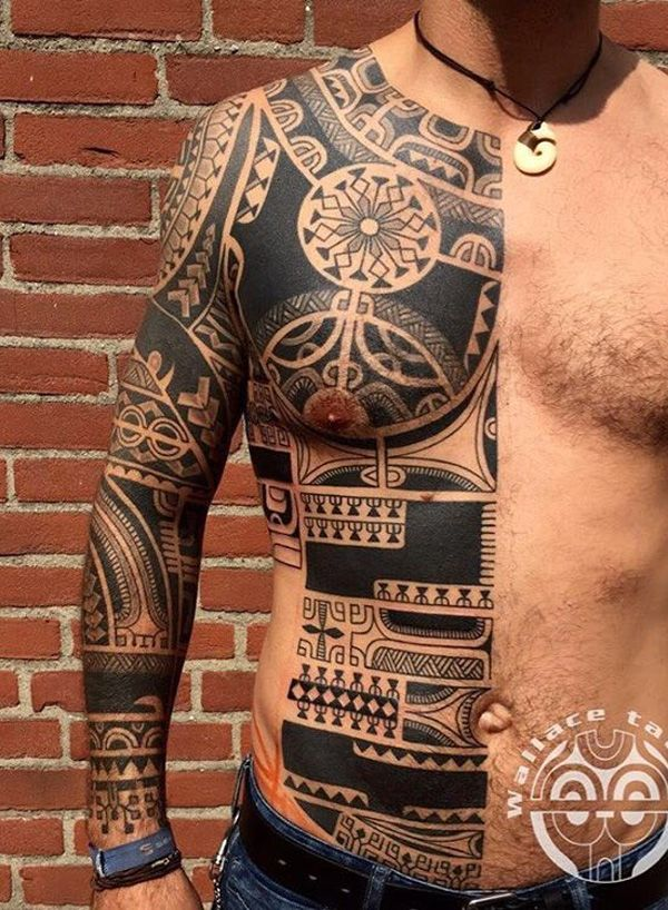 Full Sleeve Arm Tribal Tattoos for Men