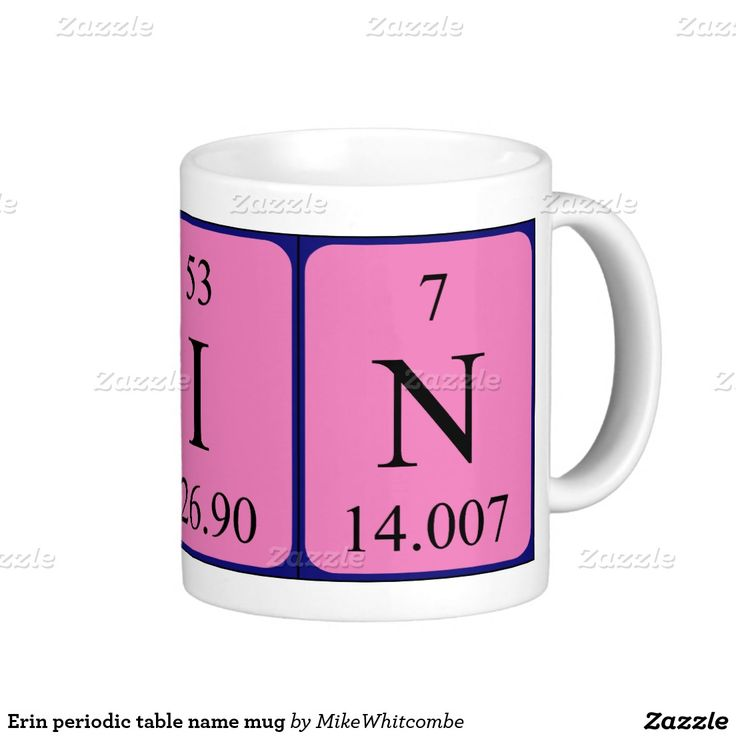 44 best periodic name images on pinterest periodic table erin periodic table name mug urtaz Gallery