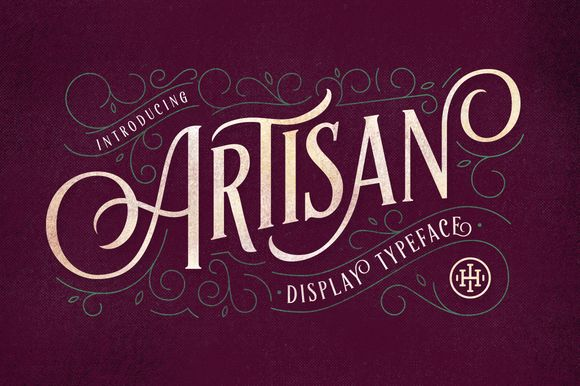 Artisan Display Typeface by ilhamherry on Creative Market #displayfonts #display #font #typeface