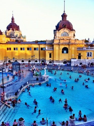 The historic baths of Budapest