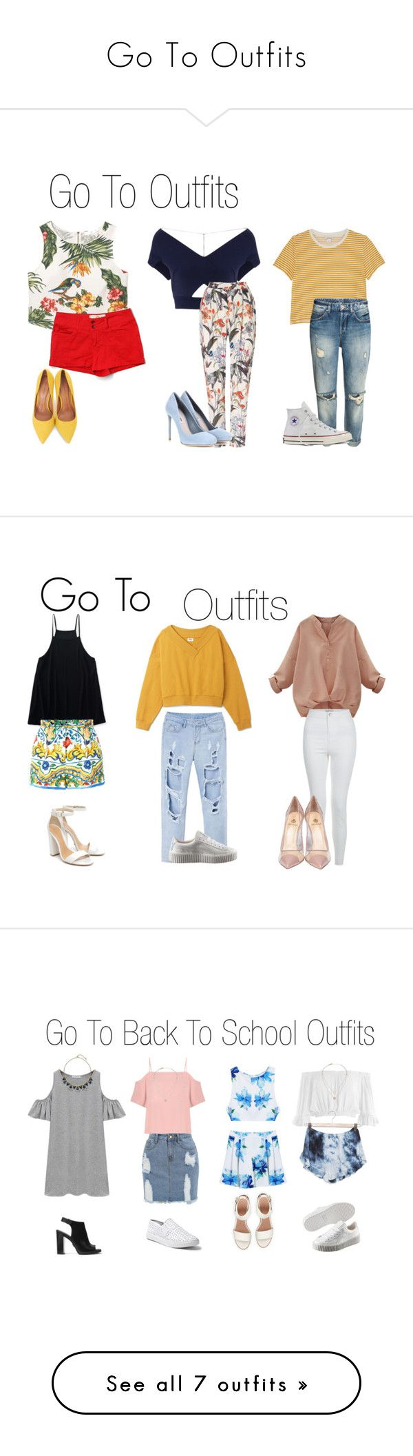 """Go To Outfits"" by lailasinspo on Polyvore featuring MANGO, Roland Mouret, Monki, Bella Dahl, Phase Eight, Converse, Miu Miu, Moda In Pelle, Aéropostale and Dolce&Gabbana"
