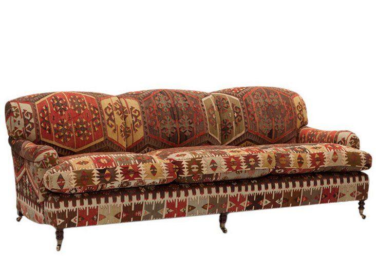 Roll-Arm Sofa, Large, Kilim | One Kings Lane