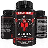 Alpha Boost Testosterone Booster for Strength and Energy Over The Counter Male Enhancement Pills that Build Muscle Fast Boost Libido and Burn Fat