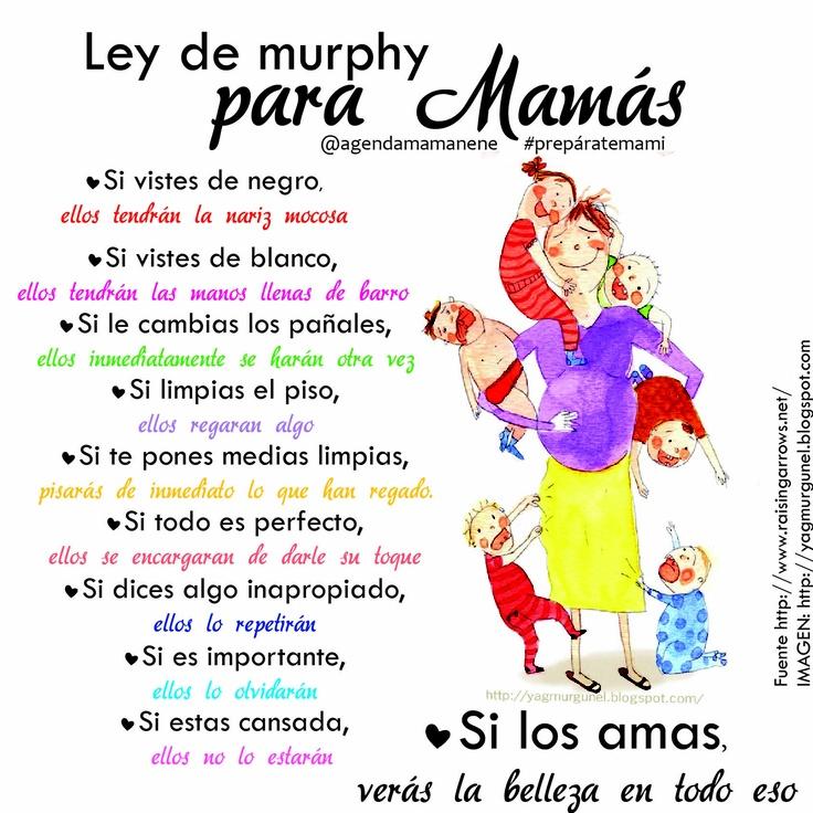 Ley de murphy para Mamás