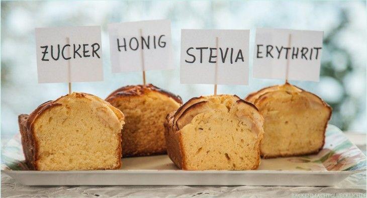 Kuchen backen ohne Zucker - Erfahrungen mit Honig, Erythrit und Stevia statt Zucker