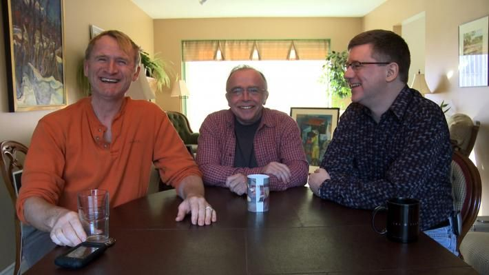 Dean Haglund, Tom Braidwood & Bruce Harwood Brahttp://www.blastr.com/sites/blastr/files/styles/media_gallery_image/public/images/Lone-gunmen-today.jpg?itok=LiOxF3it