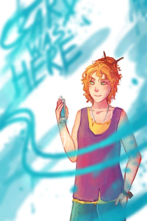 Headcanon: One of Clary's favourite things about being a Shadowhunter is that she can graffiti in the mundane world without being noticed :)