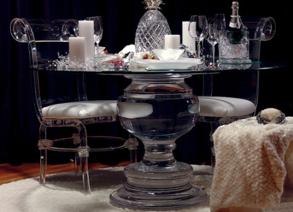 Acrylic Chic Decor.....CLEARLY A Must For Your Interiors. Lucite  FurnitureAcrylic FurnitureDiy FurnitureLucite TableDining Table ChairsModern  ...