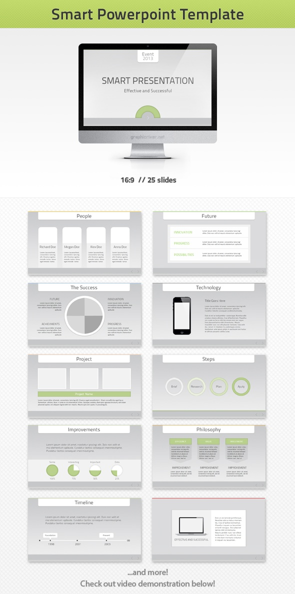 13 best powerpoint templates images on pinterest presentation smart ppt presentation template goes well with corporate green technology it toneelgroepblik Gallery
