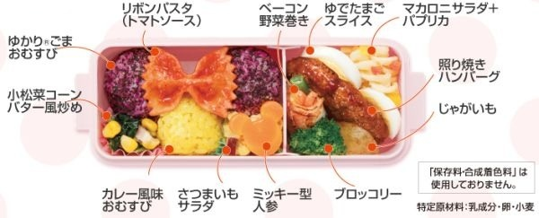 Contents of the lunch box (C) DISNEY