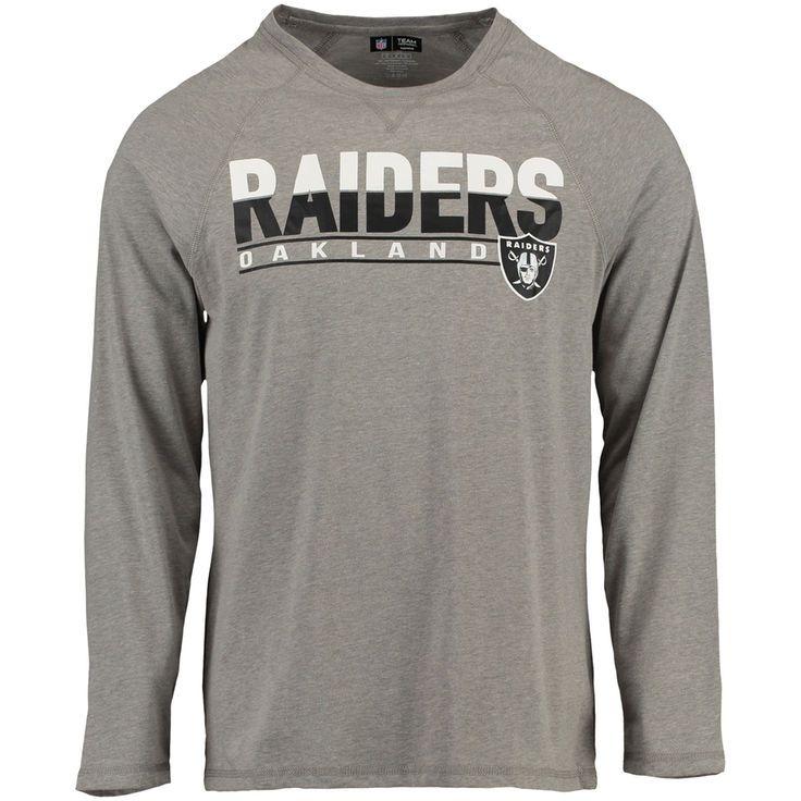 Oakland Raiders Concepts Sport Bleacher Raglan Long Sleeve T-Shirt - Gray - $22.99