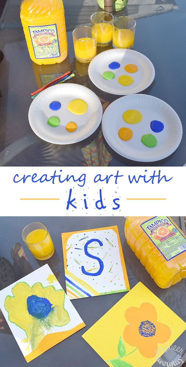 My kids can paint all day long. Click the pic for my best tips on creating art with kids. Also, find out how #TampicoJuice inspires our creativity every day! @tampicoofficial #FlavorsOfFun #AD