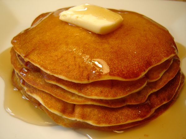 IHOP Pancakes Recipe - 1 1/4 cup A/P flour  1 egg 1/14 cup buttermilk 1/4 cup granulated sugar 1 heaping tsp baking powder  1 tsp baking soda  pinch of salt  mix all in a blender.  laddle 1/3 cup of batter on hot skillet spay with non-stick spray.  cook a minute or two, flip - cook minute or two.   Enjoy