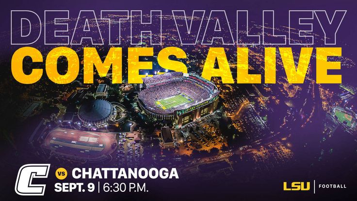 BATON ROUGE – LSU's 2017 home opener against Chattanooga on September 9 will be under the lights in the Tiger Stadium as the game will kickoff at 6:30 p.m. CT, the Southeastern Conference announced on Tuesday.