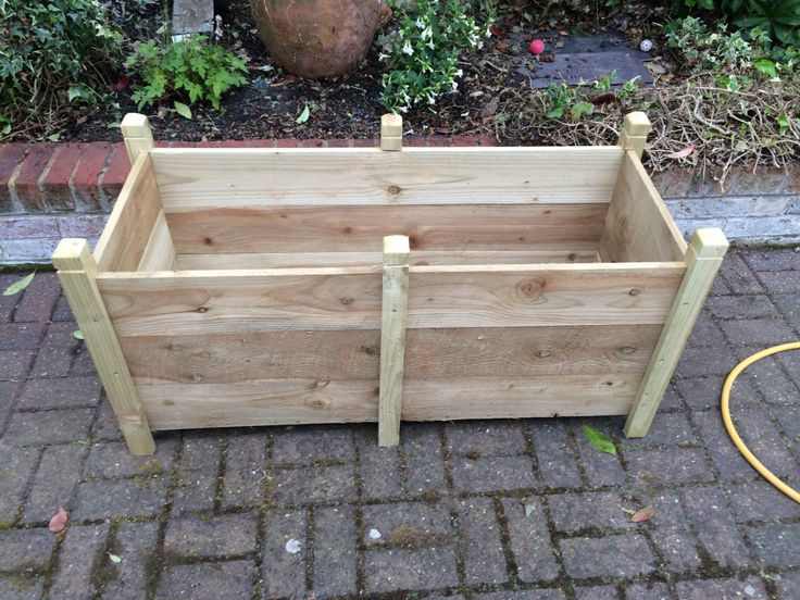 A personal favourite from my Etsy shop https://www.etsy.com/uk/listing/264476496/rustic-wooden-plant-trough