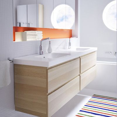 Name Your Price: Budget, Moderate and Luxury Wall-Mounted Vanities: Budget: IKEA Godmorgon Vanity = $679