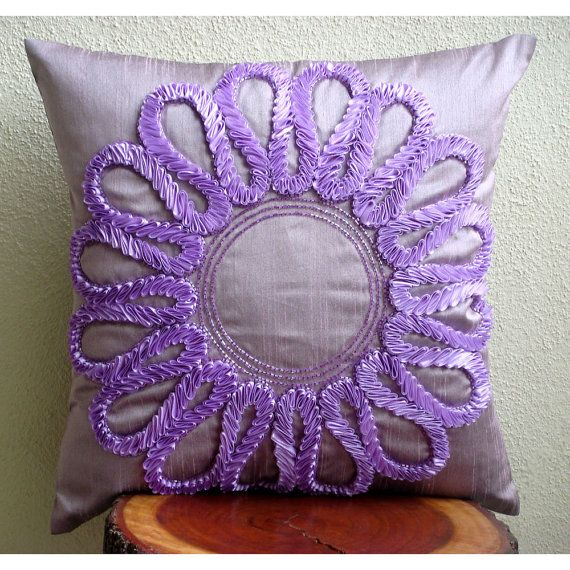 Purple Blossom Throw Pillow Covers 20x20 by TheHomeCentric, $39.30