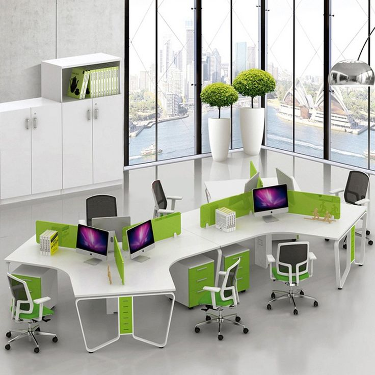 Big discount modular furniture aluminum partition office workstation for 6 person