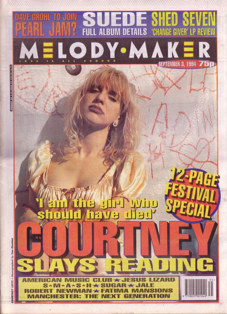 "Melody Maker, 9-3-94, ""'I am the girl who should have died.' Courtney slays Reading"""