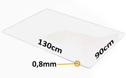 Mata ochronna - 130x90cm x 0,8mm idealne pod większe krzesło