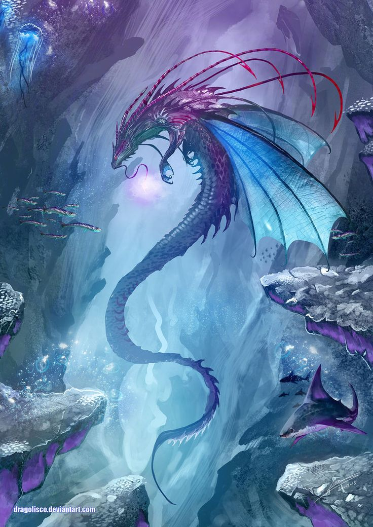 """noisy-pics: """" King of the Undersea by Dragolisco """" Some inspirational art for gaming. Make sure to check out the artist's page."""
