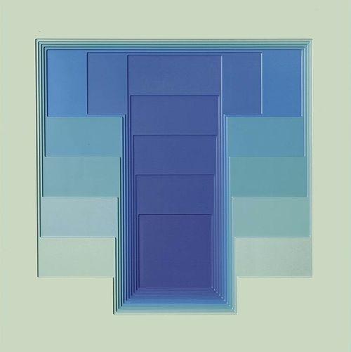 Karl Gerstner, color sound 42 IntroVersion, 1968-72. Reliefbild in 12 Schichten. Source © Karl Gerstner  Karl Gerstner, Basel