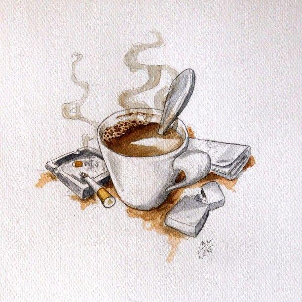 Another illustration . Morning ritual  #illustration #watercolor #coffee #cigarette #newspaper #zippo #morningritual #art #arts_help #theartslovers #freshart #baigart #artistic_support #instartpics #sketch_daily #juventudartista #art_worldly #artsanity #artist_sharing #Art_Spotlight #art_empire #moanart #art_discover_ #ladyterezie #artworksfever #arts_gate #artist_4_shoutout _ #instartpics #Art_iwork #artists_magazine @art_motive #artaesthetics @art_muse