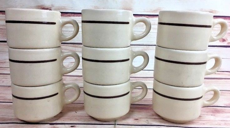 10 Vintage COFFEE CUPS CAFE BUFFALO USA Restaurant China  #BUFFALO