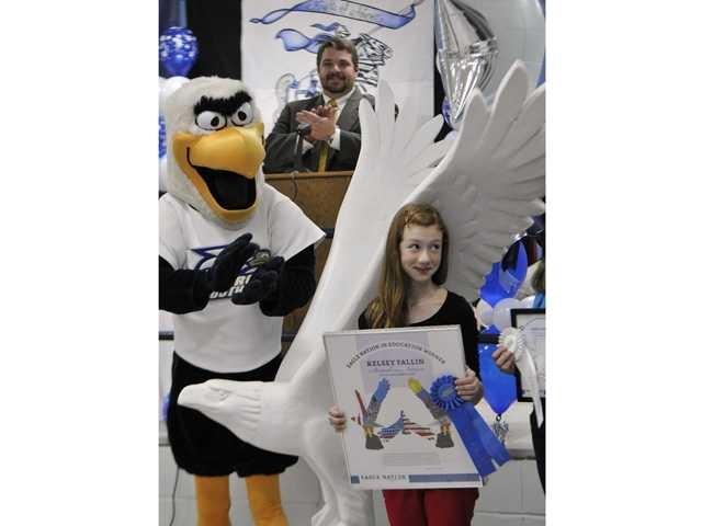 William James Middle awarded Georgia Southern University eagle sculpture