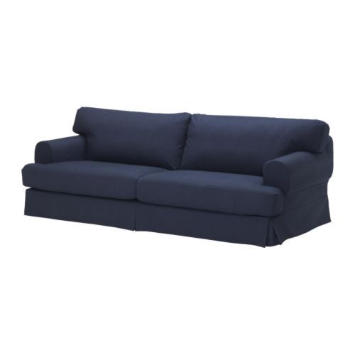 ikea 365 glass clear glass deep sofa dark blue and