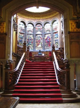 Skibo Castle - reminds me of the front staircase at Terrace Hill, the Iowa governor's mansion.