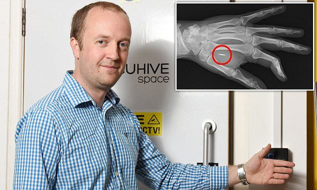 British inventor Steven Northam has microchip implanted