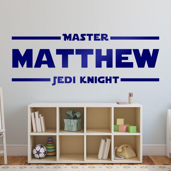 Adesivi Murali: Master Jedi nome personalizzato. Adesivo mural Star Wars. #starwars #vinile #muro #parete #decorazione #jedi #deco #StickersMurali
