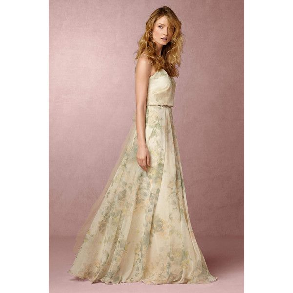 Great Anthropologie x BHLDN Inesse Wedding Guest Dress uac liked on Polyvore featuring
