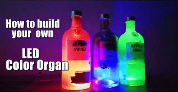 A colour organ is an electronic device that respond through music input. In this case Red light ...