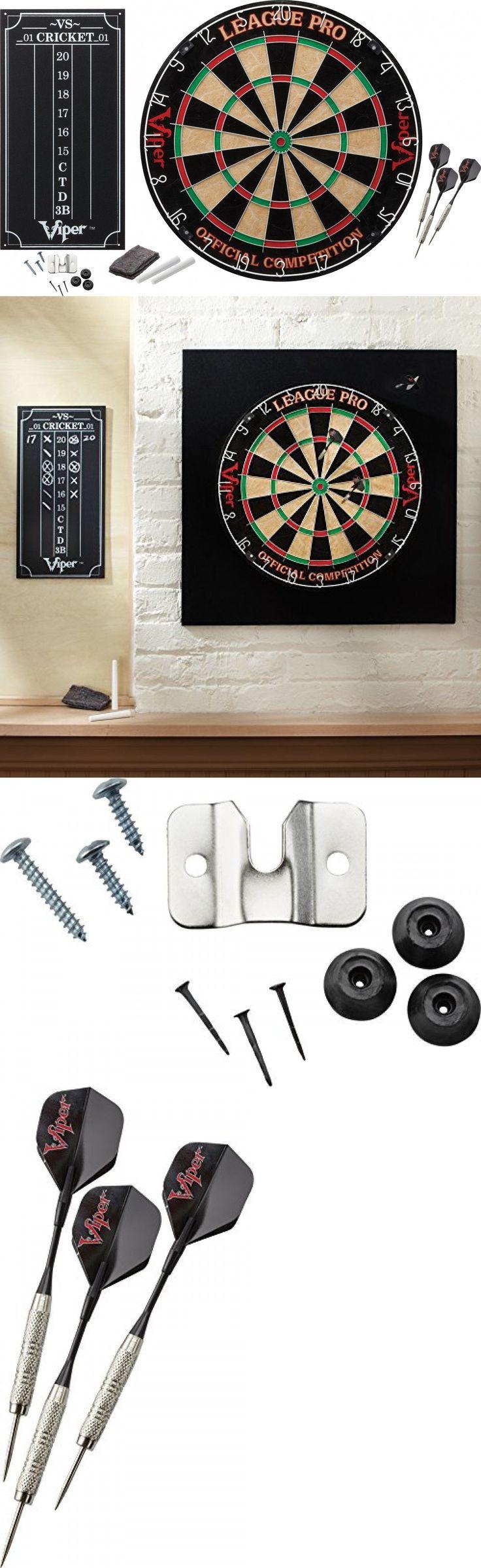 Dart Boards 72576: Dart Board Viper League Pro Sisal Bristle Steel Tip Staple Free Scoreboard Kit -> BUY IT NOW ONLY: $40.28 on eBay!