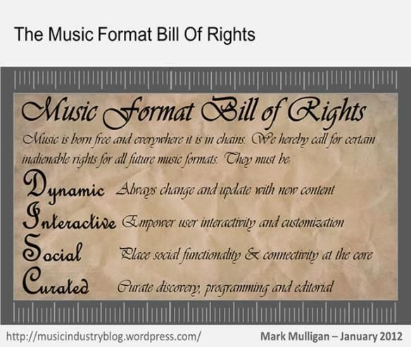 The Music Format Bill of Rights Latest music and Music industry - format for a bill