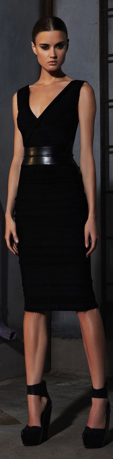 Herve Leger- I'd Love to see Stana in this one remember it was the Blue One at the Book Launch Party that made Paula tell Castle go sleep with her and get it outta your system