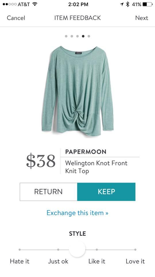 Stitch Fix Papermoon Wellington Knot Front Knit Top