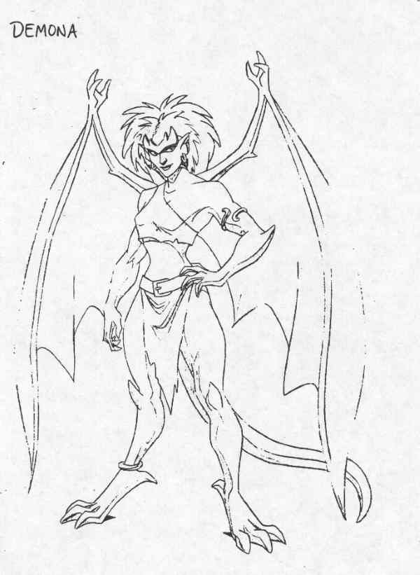 gargoyles characters coloring pages - photo#6