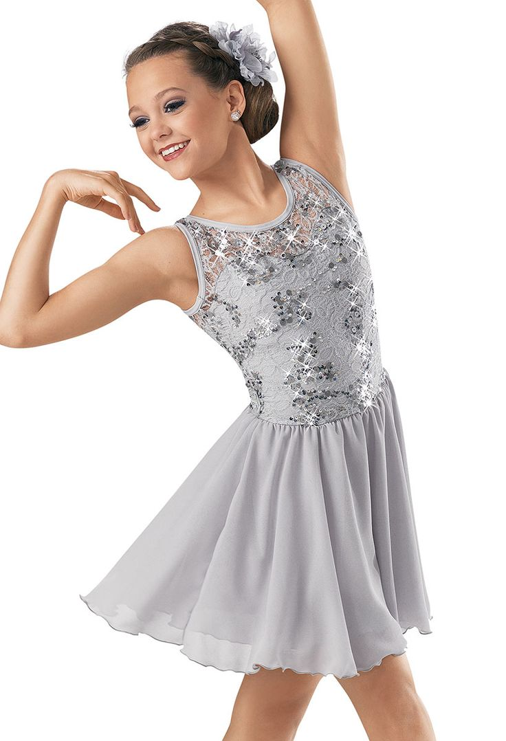 Weissman™ | Sequin Lace Georgette Dress