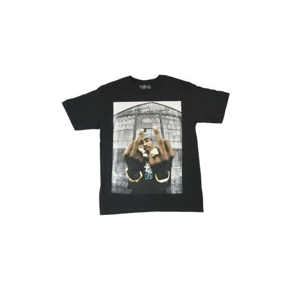 Tupac T-Shirt featuring polyvore, fashion, clothing, tops, t-shirts, shirts, low tops, t shirts, shirts & tops and low t shirt